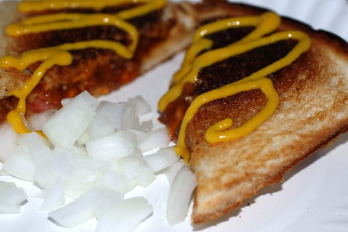 Pie Iron Coney with Onions