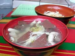 侯硐古早麵 - 阿蝦豬血大腸湯