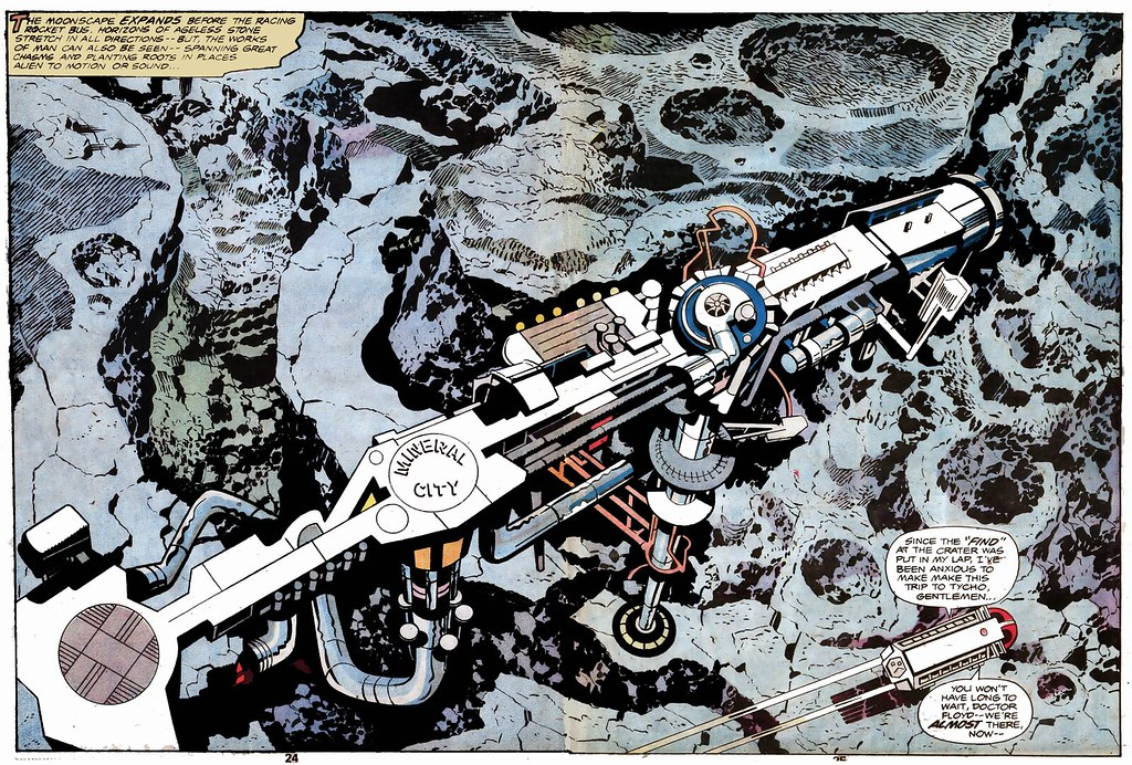 2001 A Space Odyssey double page spread by Jack Kirby, 1976
