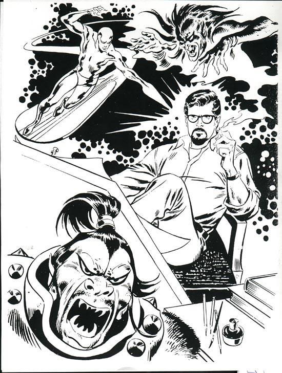 John Buscema Marvelmania self portrait