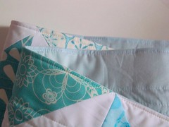 Aqua table runner photo by PioneerValleyGirl
