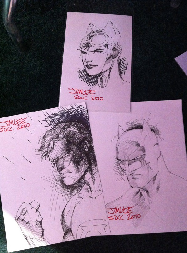 Jim Lee's DC sketches for San Diego Comic-Con 2010 Scavenger Hunt