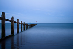 Groyne & Sea at Night photo by ChrisDale