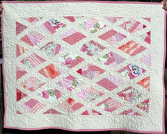Pink Diamonds Baby Quilt photo by Peppermint Pinwheels