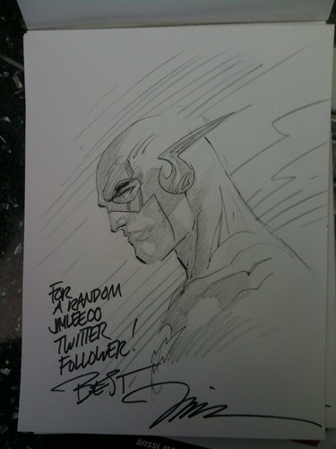 Jim Lee's Flash sketch for C2E2 2010 Scavenger Hunt