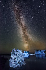 Milky Way - Jökulsárlón, Iceland photo by orvaratli