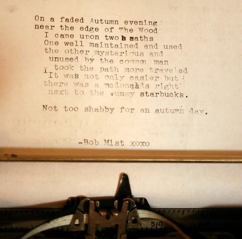 Bob Mist Poetry