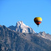 Clear skies and a snow-capped Grand Teton make for a great balloon ride!