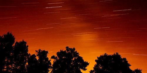 Stars trail