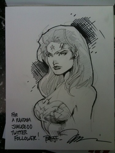 Jim Lee's Wonder Woman sketch for C2E2 2010