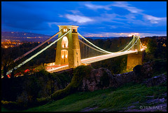 Bristol - The Two Towers of Clifton Suspension Bridge photo by Yen Baet