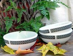 Pyrex Grecian Cereal Bowls Restaurant Ware 1960s photo by SurrendrDorothy