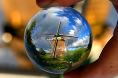 A Dutch windmill, Amsterdam – The Netherlands. Crystal ball photo by kees straver (will be back online soon friends)