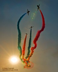 Red Arrows Display Over RAF Shawbury photo by Defence Images