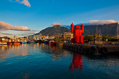 coca cola man at cape town waterfront photo by MohdShareef