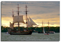 Parade of Sail Erie Pennsylvania Sunset 2010 photo by :: Igor Borisenko Photography ::