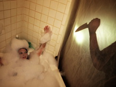 Rub-a-Dub Dub Knife In The Tub or Splish-Splash Getting Stabbed In The Bath photo by Red Leather Photography