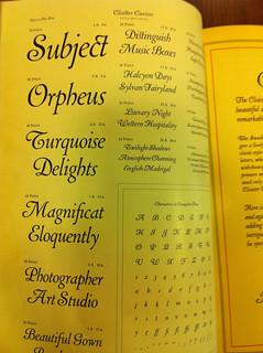 Specimen for Cloister Cursive
