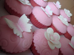 Pretty pink flowers & butterflies photo by Angelina Cupcake