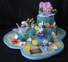 Ocean stingrays photo by Cake Diane Custom Cake Studio (eyedewcakes)