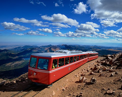 The Pike's Peak Cog Railway at 14,115 Feet (4300+ m) photo by Fort Photo