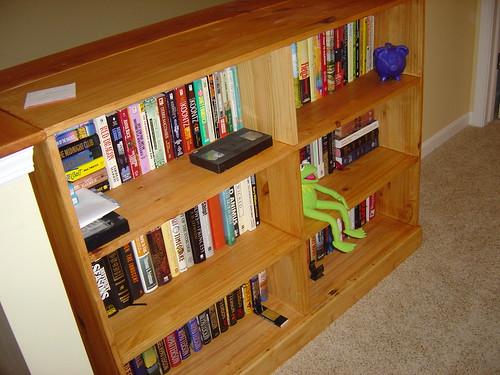 The bookshelf...