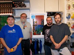 Group photo.  L-R: Charles, Bruce, Russell, and me.