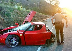 Enzo crashed on PCH