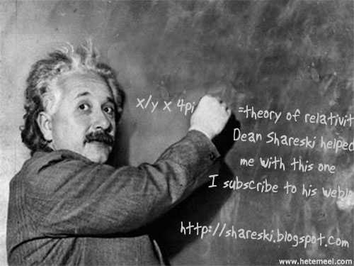 I helped Einstein