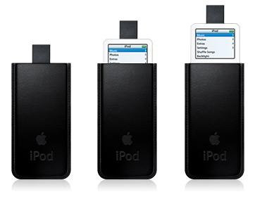 皮革製的 iPod 保護套(20060228發表)