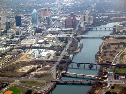 Downtown Austin Aerial View