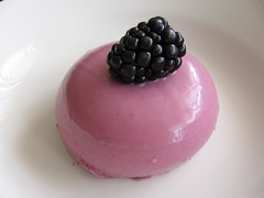 Blackberry Buttermilk Panna Cotta