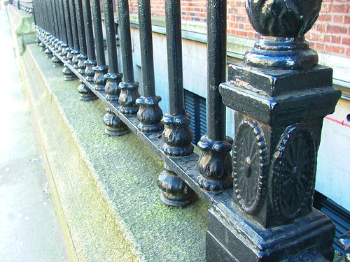 Wrought-iron gate rows