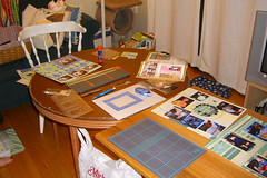 Our big scrapbooking mess