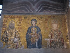 Mosaic in the Hagia Sophia (Ayasofya)