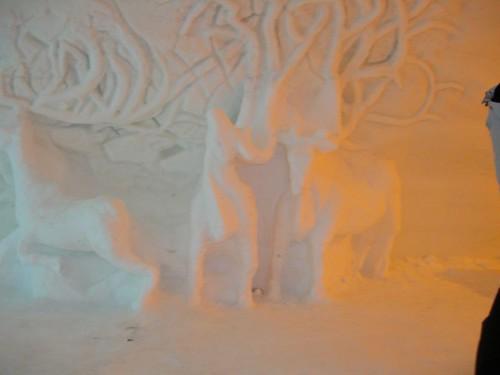 Detalle de las paredes: renos