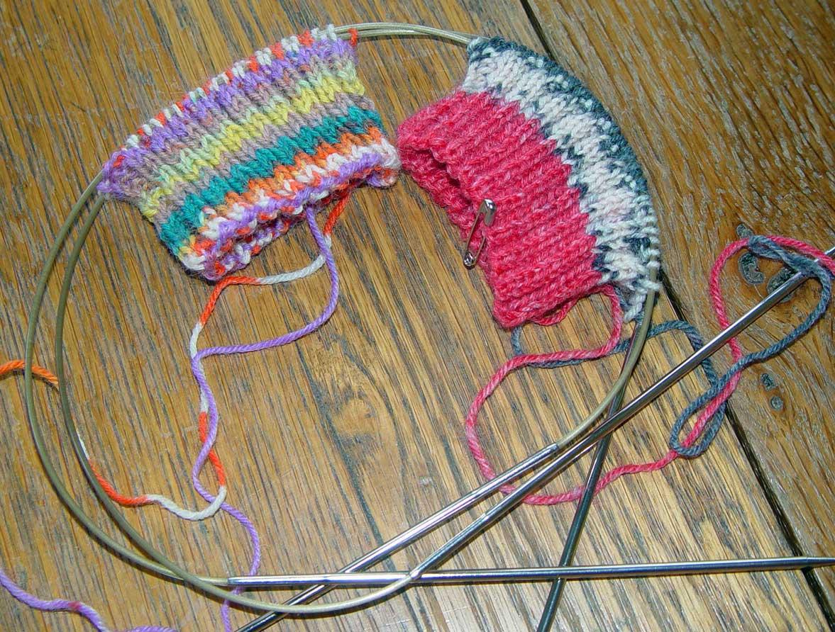 Knitting Patterns Socks On Circular Needles : Knit me a river: 2 Socks on 2 Circular Needles