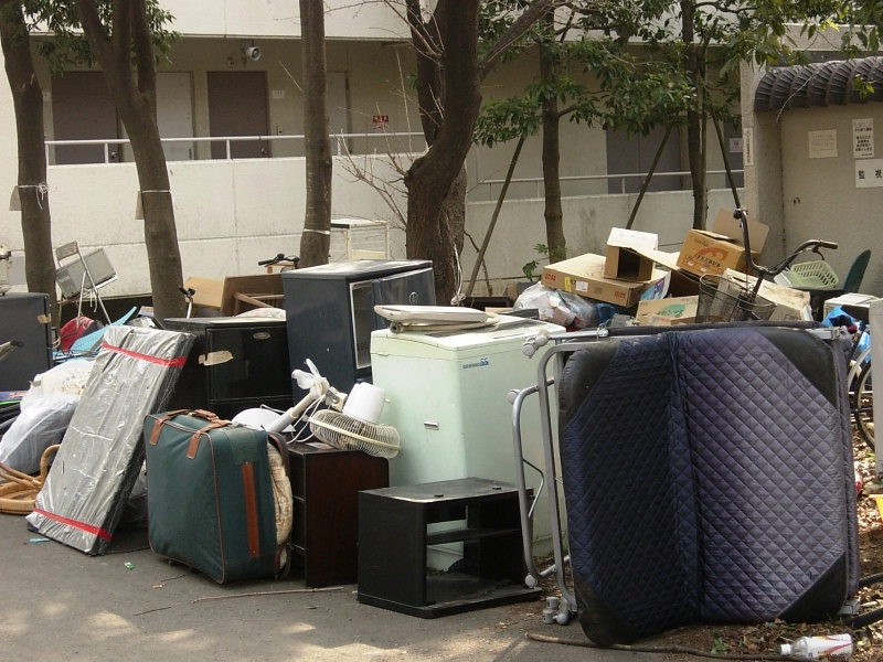moving out: garbage