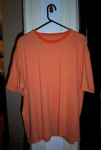 plain orange tee shirt