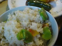 空豆とじゃこの炊き込みご飯