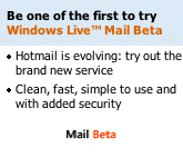 an invite to join Windows Live mail!