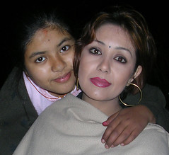 Karishma With Her Daughter