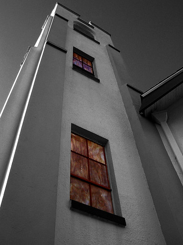 Church Tower Side (B&W)