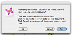 InDesign2: Postponed recovery