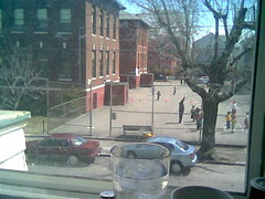Brown School Playground from the couch