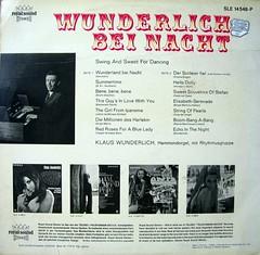 Klaus Wunderlich - Wunderlich bei Nacht (back)