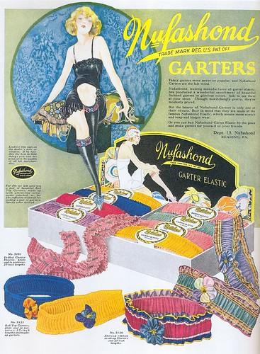 Nufashond Garters ad, 1925