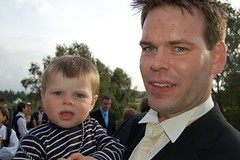 The Groom and his little boy Fredrik
