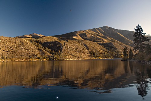 Twin Lakes and Moon