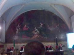 sala dove si è svolto il convegno Elezioni e Internet